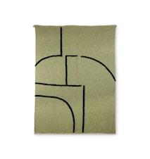 Pläd Mjukvävd Pistachio/Svart 130x170