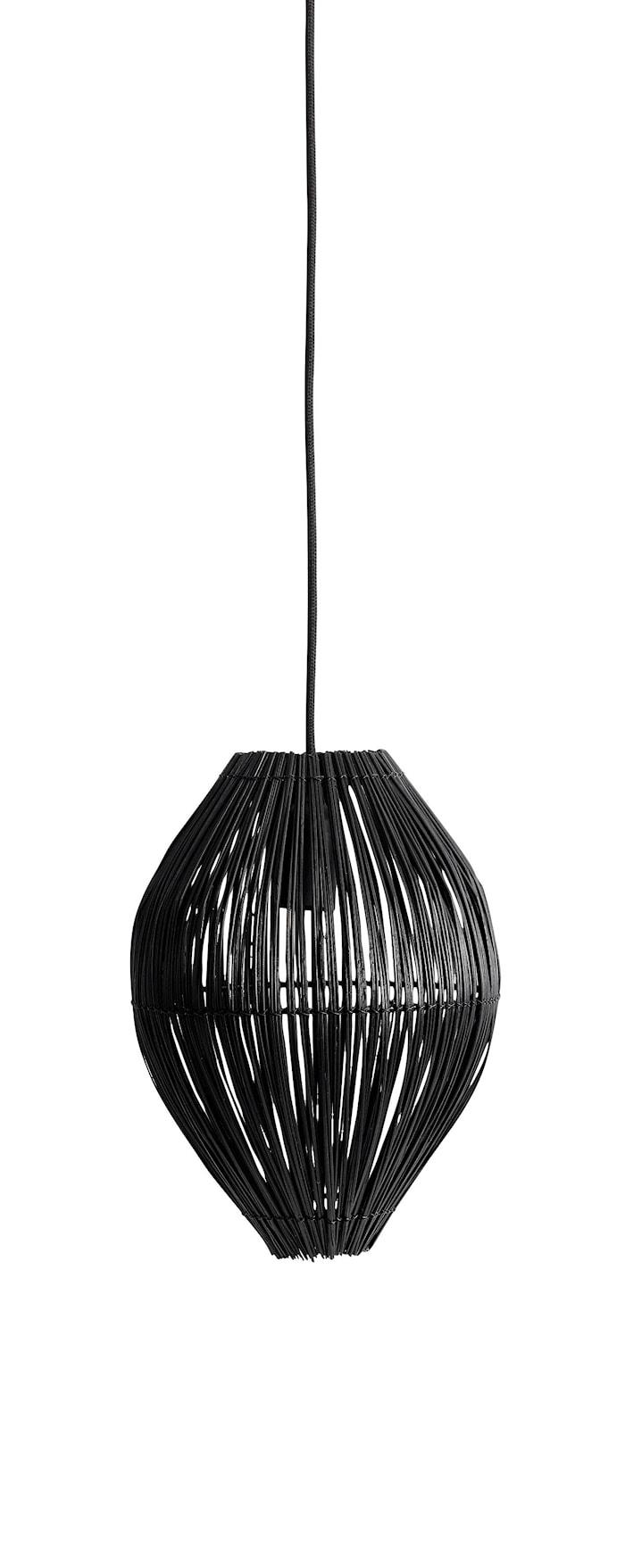 Fishtrap Bambu S Taglampe 29,5x23 cm - Sort