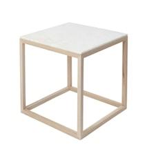 Cube Sidobord Medium Marmor Ek