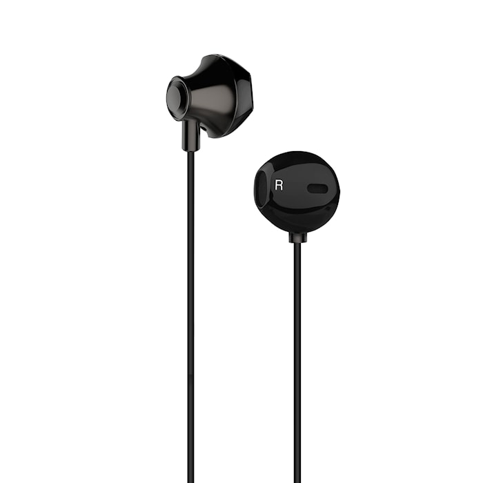 Headset EarPod Svart Metallic