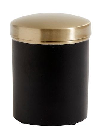 Förvaringsburk i rostfritt stål - Svart/Mässing