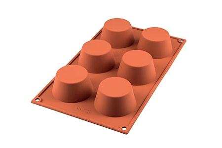 Classic Silikonform Muffins D:6.9 cm Terracotta