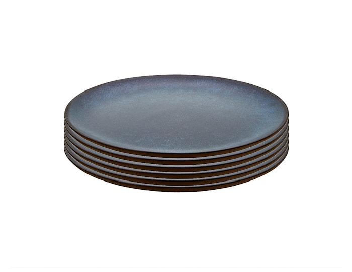 Raw Frukosttallrik Midnight Blue 6 st 23cm