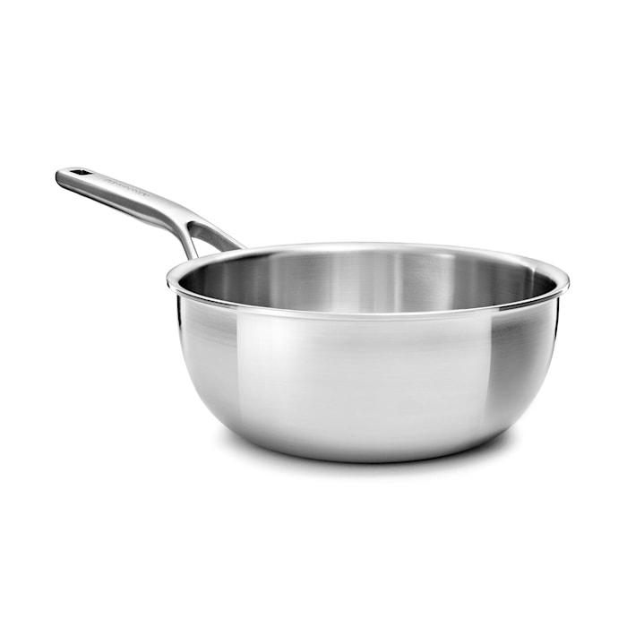 Multi-Ply Stainless Steel Sauteuse 20cm / 2.36L Uncoated