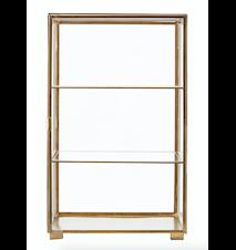 Kabinett Glas/mässing 56,6x35x35 cm