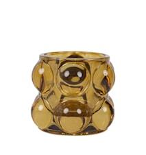 Bubbla Ljuslykta Bärnsten 7 cm