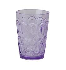 Swirly Glas Akryl H:12.5 cm Lila
