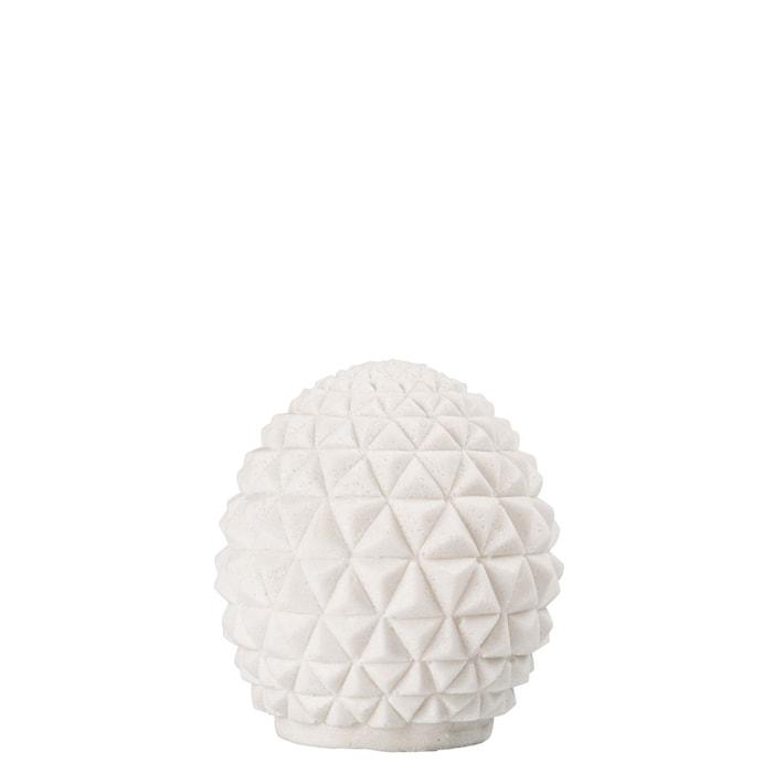 Pöytävalaisin Globe Valkoinen, korkeus: 14cm