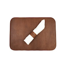 Table Mat with Napkin Holder, Leather