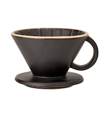 Leah Coffee Dripper, Black, Stoneware