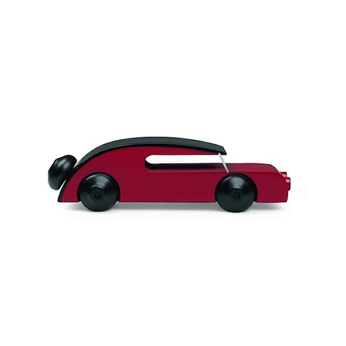 Bil Sedan Svart/Röd Liten
