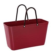 Väska Stor Green Plastic Vinröd