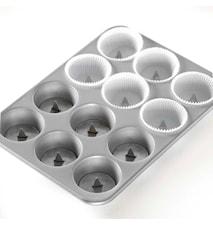 Leivontavuoka Cupcake Piilo, Alumiini