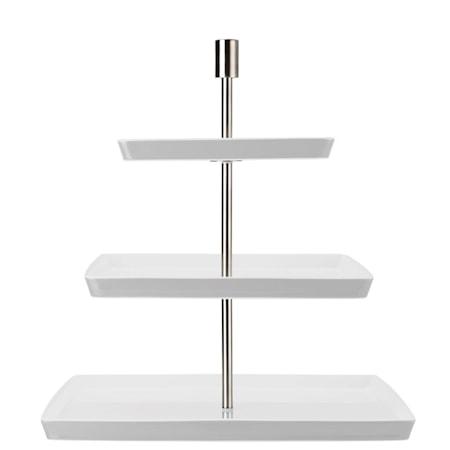 Loft Neliönmuotoinen kakkuvati 3 kerrosta, Valkoinen