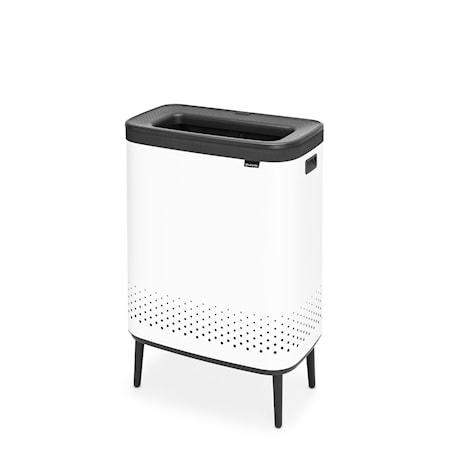 Bo Tvättkorg HI Vit Plastlock 2x45L