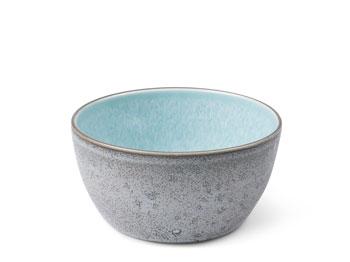 Skål 14 cm grå/ljusblå BITZ