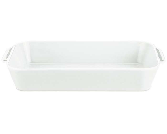 Stegefad dybt hvid, l: 44 cm b: