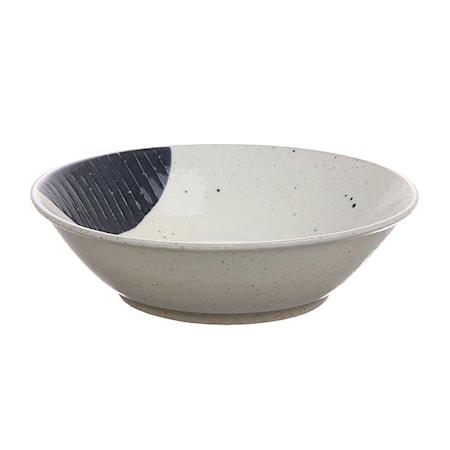 Kyoto Skål Keramikk Hvit/Blå 50 cl