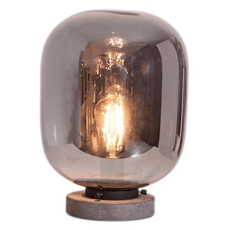 Leola Bordslampa Svart marmor/rökgrå 31cm