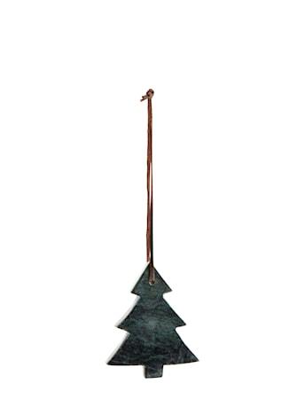 Dekorationsträd 9 cm Grön