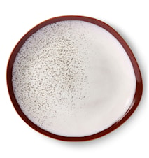 Ceramic 70's Plate Frost