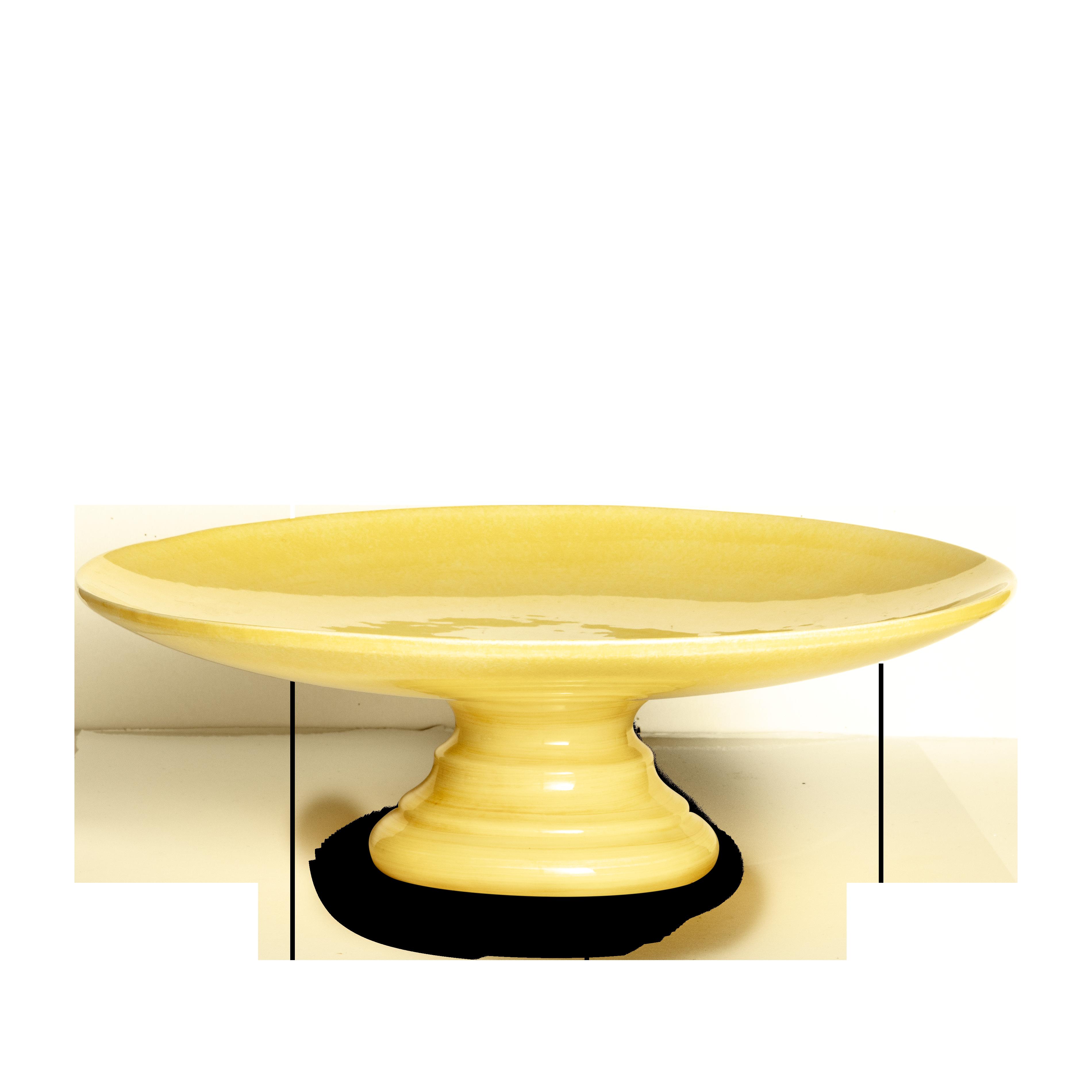 Basic Tårtfat Gul 33 cm