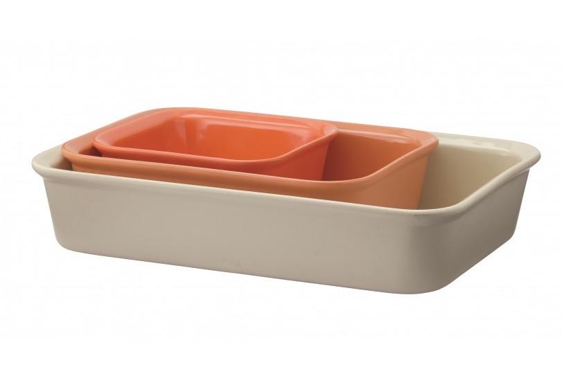 Cook & Serve ugnsfast form 3 st – orange