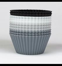 Muffinsforme Sort/Hvid/Grå 12-pak