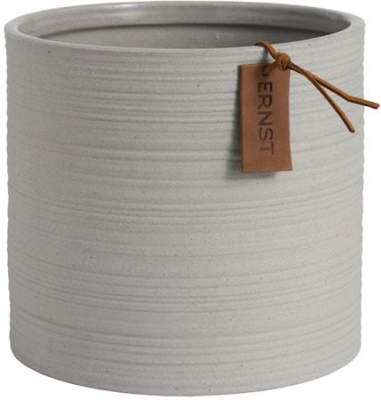 Krukke d18,5 h17 cm, lys grå
