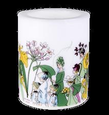 Blomsterfolket Lys H: 12 cm Hvit