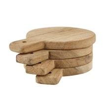 Serveringsbakke/Bordskåner, 4 stk/pakke, L: 15 cm