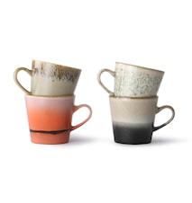 Ceramic 70's Americano Krus 4-pak