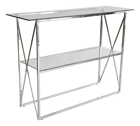 Cross Konsolbord, 110x35, blank krom