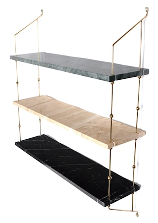 Morse shelve hylle - Green/sand/black/brass
