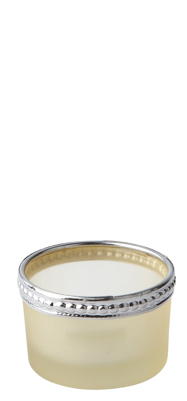 Lyslykt Metall Gul/Sølv 3,5 cm