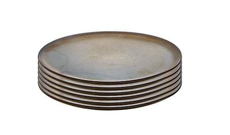 Raw Frukosttallrik Metallic Brown 6 st 23cm