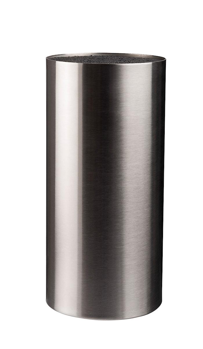 Bloc à couteaux avec surface en acier inoxydable brossé hauteur 22,5 cm