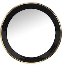 Blankt Spejl Sort/Guld 71 cm