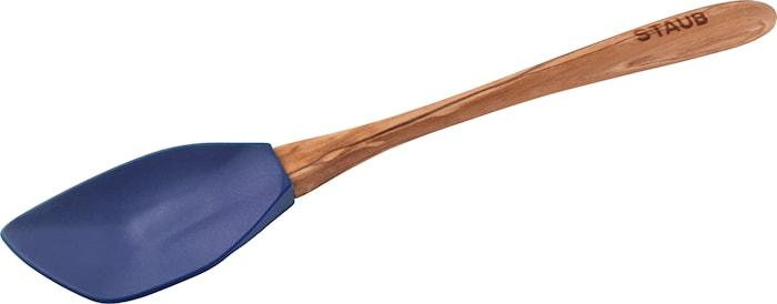 Baksked  Med Trähandtag  31 cm Blå