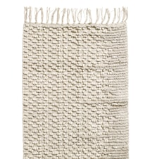 Cotton Rug with fringes 60x90 cm - White