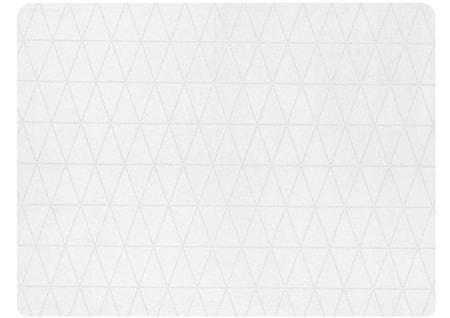 Dækkeserviet - Gummi - Hvid - H 0,5cm - L 40,0cm - B 30,0cm - Stk.