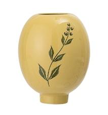 Vaso in gres giallo Ø12x15cm
