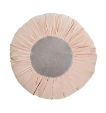 Rund kudde Ø 60 cm Ljusrosa/grå