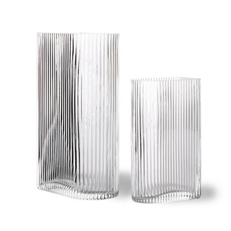 Clear Ribbed Vaser set of 2