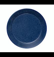 Teema lautanen 17 cm meleerattu sininen