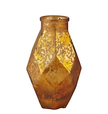 Vase - Glass - Amber - Metallic - H 16,0cm - L 9,0cm - B 9,0cm