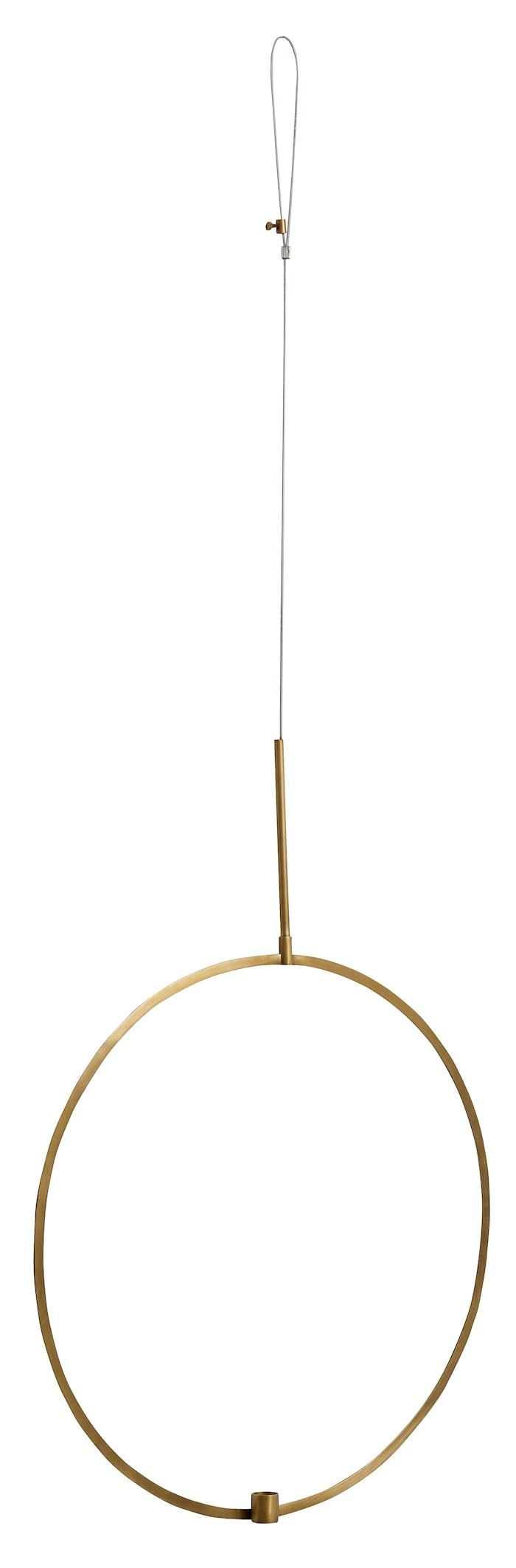 lysestake sirkel til oppheng Ø 52 cm - messing