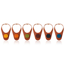 Bottle Marker & Stopper Leather set of 6