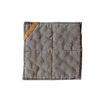 Grytlapp  25x25 cm grå