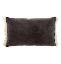 Tyynynpäällinen FRINGE 40 x 65 cm - Tummanharmaa